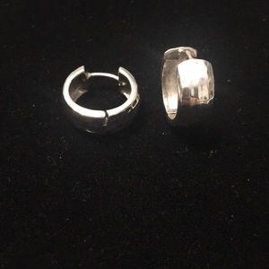 Sterling Silver Hammered Earrings-Silpada Designs